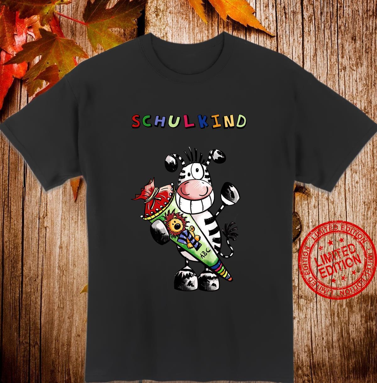 Kinder Lustiges Einschulung Zebra Design für Erstklässler I Schule Shirt