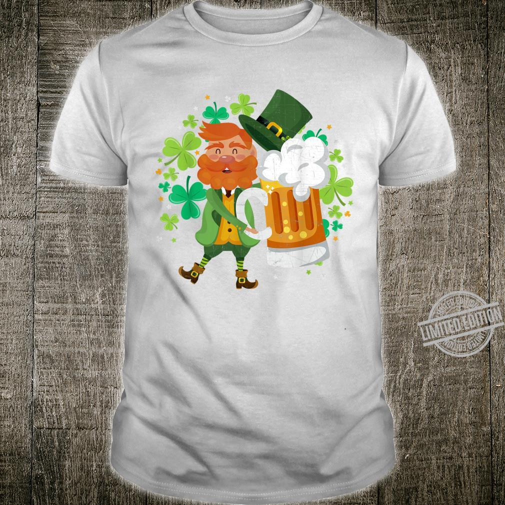 Leprechaun Beer Shamrock Drinking St Patrick's Day Shirt
