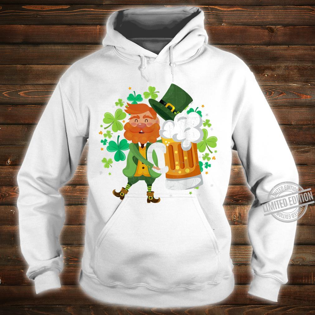 Leprechaun Beer Shamrock Drinking St Patrick's Day Shirt hoodie