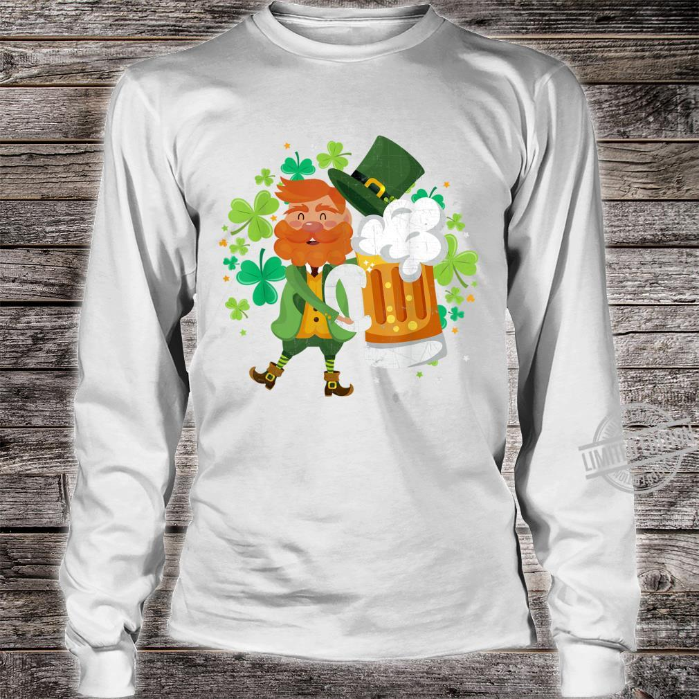 Leprechaun Beer Shamrock Drinking St Patrick's Day Shirt long sleeved