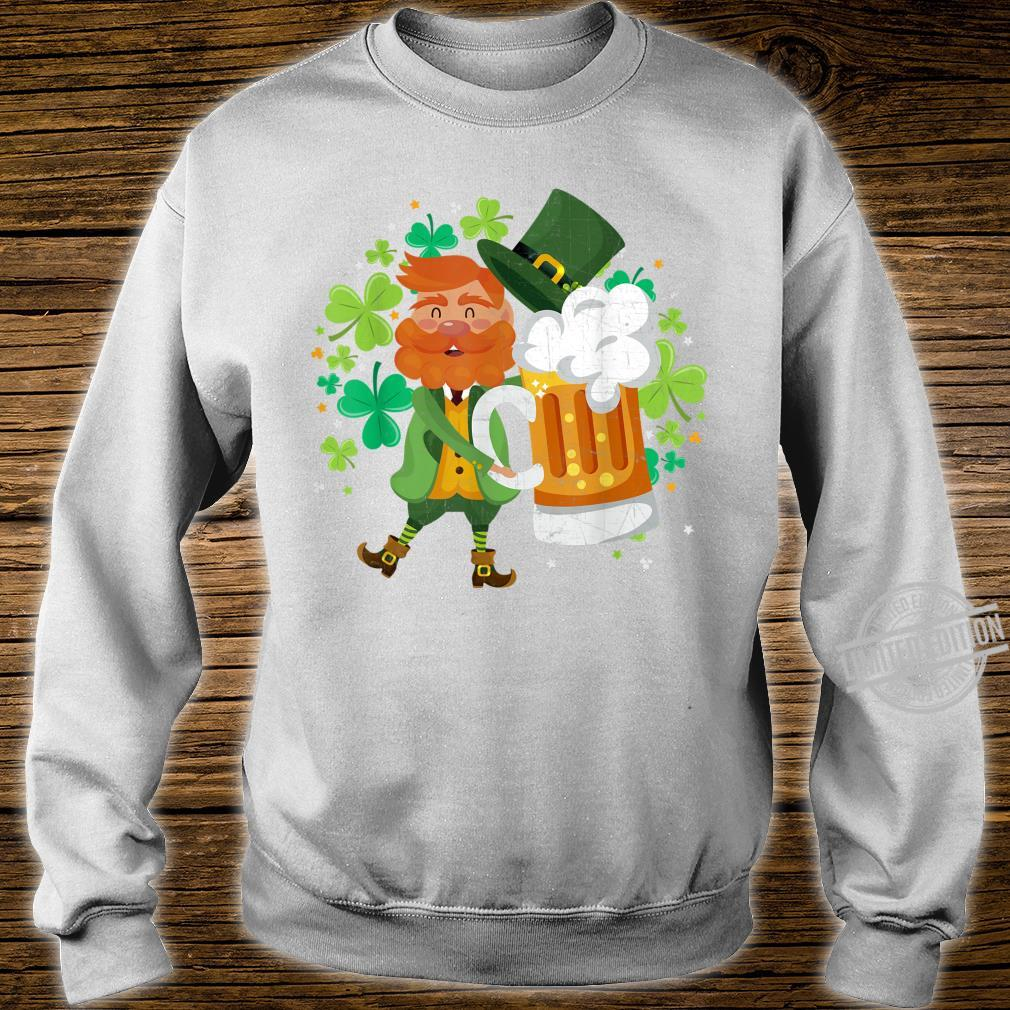 Leprechaun Beer Shamrock Drinking St Patrick's Day Shirt sweater
