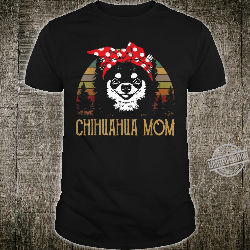 LongHaired Chihuahua Mom Vintage Mama Shirt