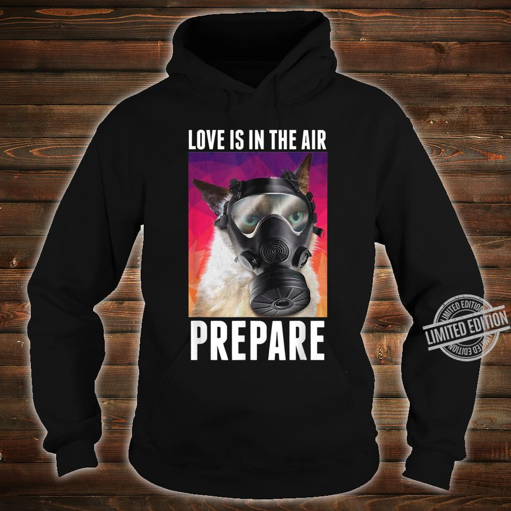 Love Is In The Air Prepare Cats Valentine's Day Shirt hoodie