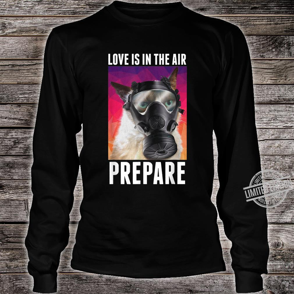 Love Is In The Air Prepare Cats Valentine's Day Shirt long sleeved