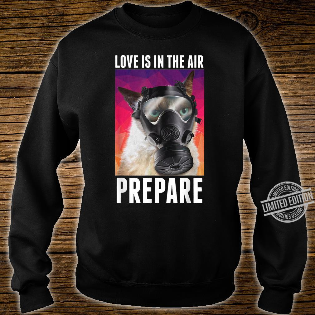 Love Is In The Air Prepare Cats Valentine's Day Shirt sweater