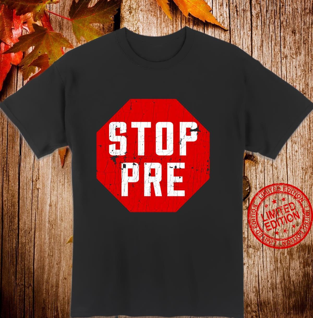 Marathon Runner Clothes & Running Stop Pre Langarmshirt Shirt