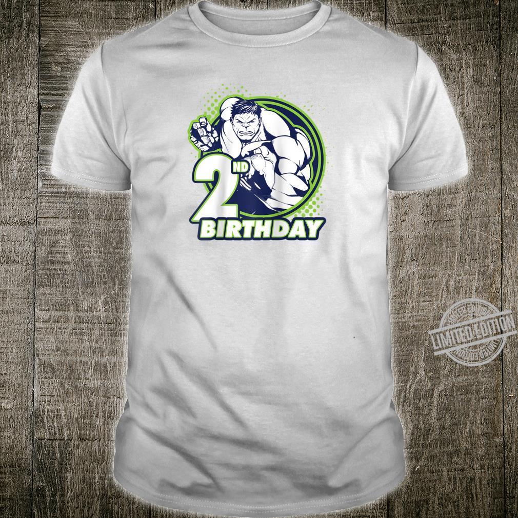 Marvel Avengers Hulk 2nd Birthday Badge Shirt