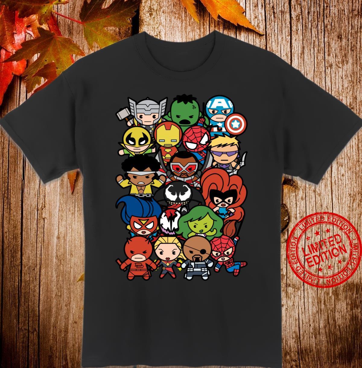 Marvel Heroes And Villains Team Kawaii Shirt