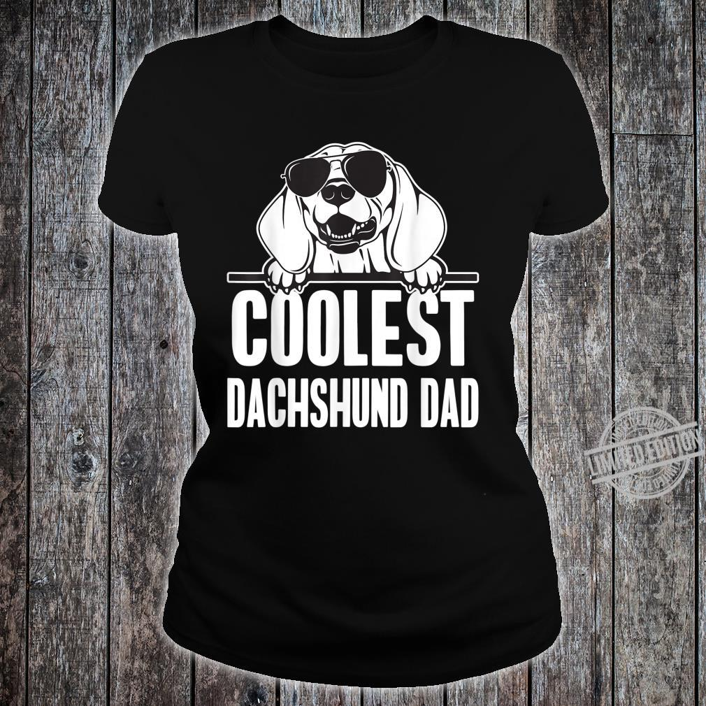Mens Coolest Dachshund Dad Shirt ladies tee