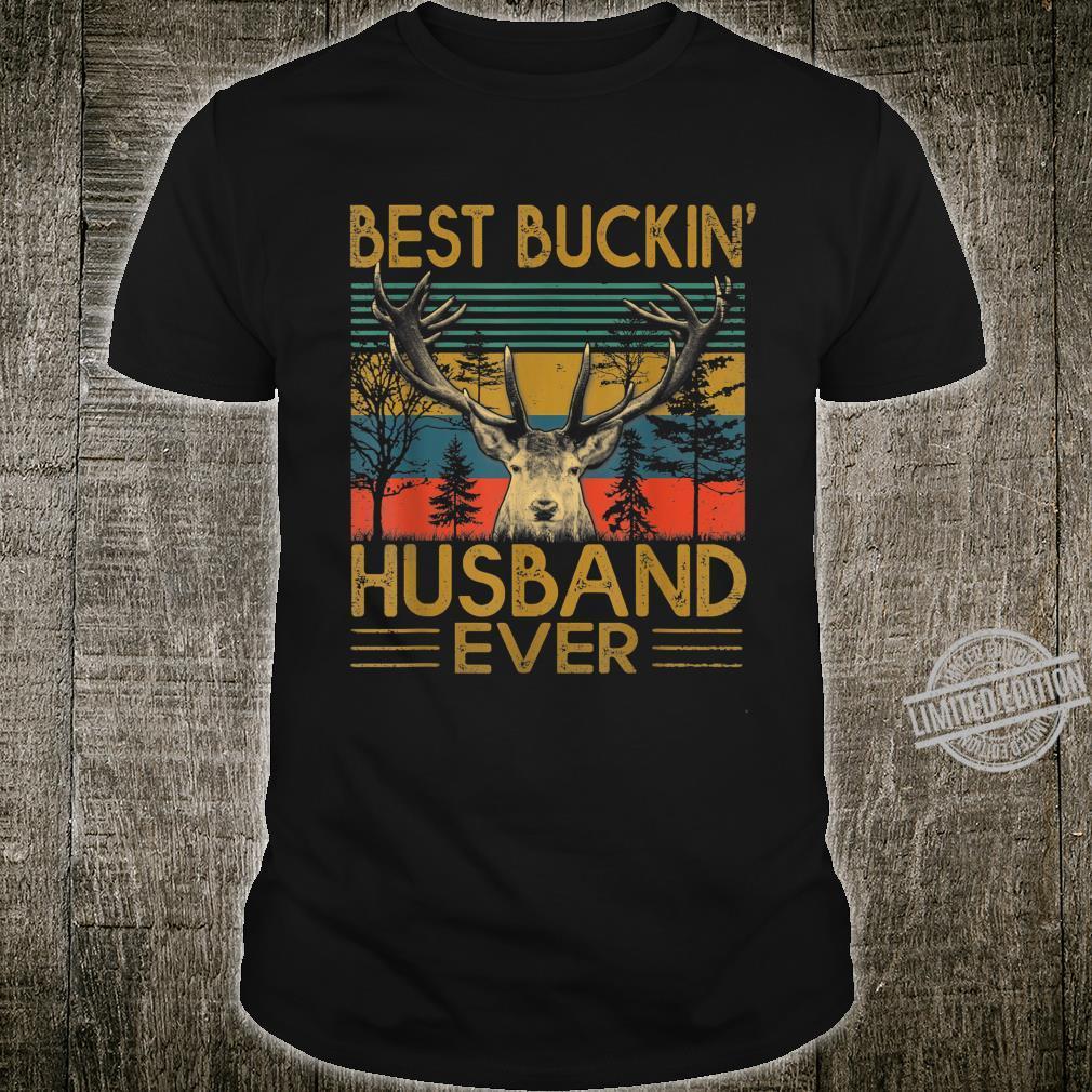 Mens Vintage Best Buckin' Husband Ever Deer Hunting Fathers Day Shirt