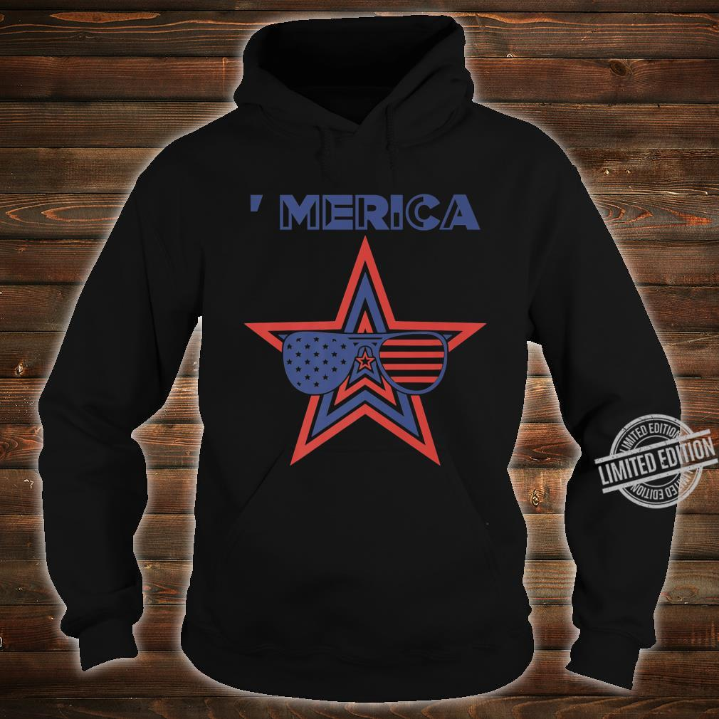 Merica Toddler Patriotic American Aviators Flag Shirt hoodie