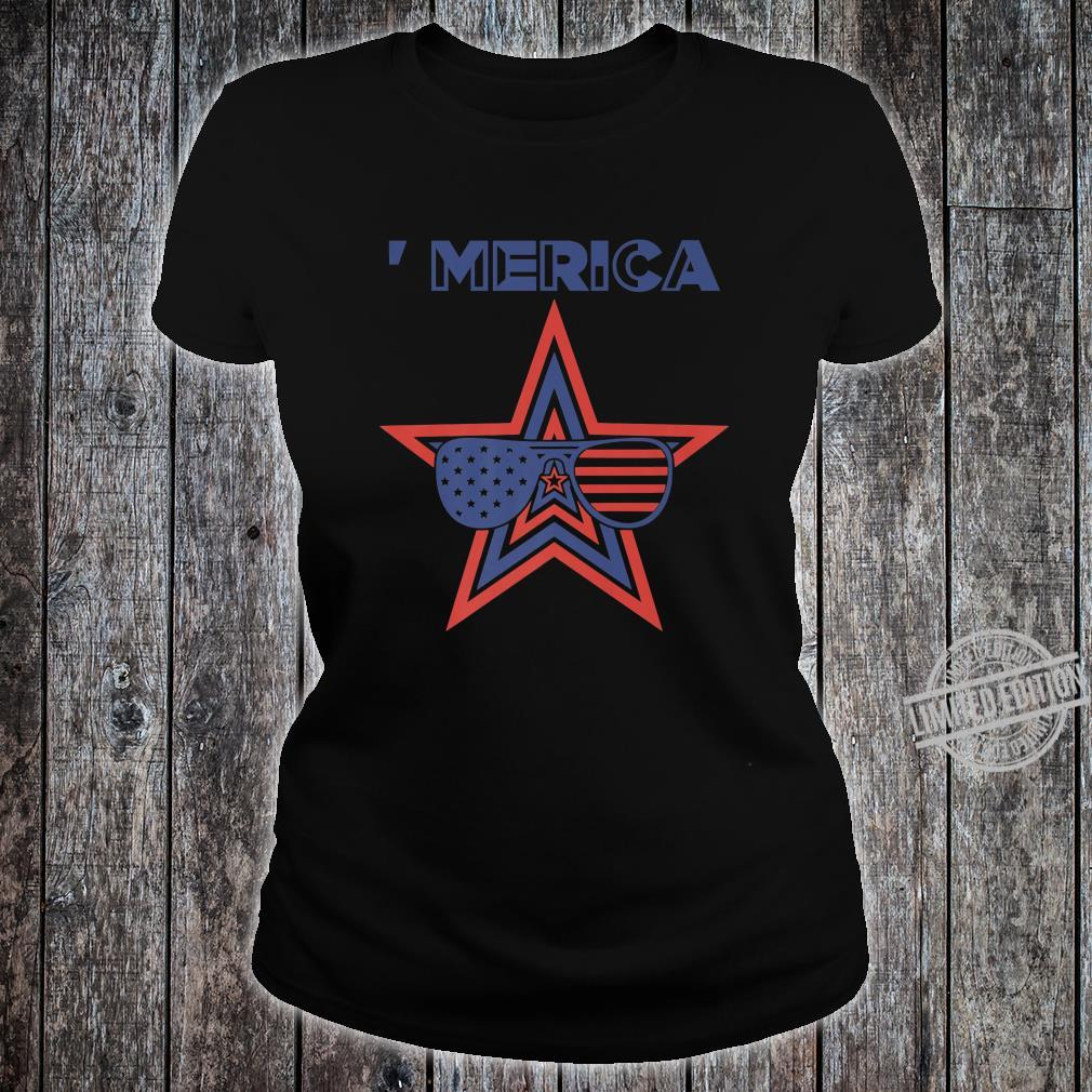 Merica Toddler Patriotic American Aviators Flag Shirt ladies tee