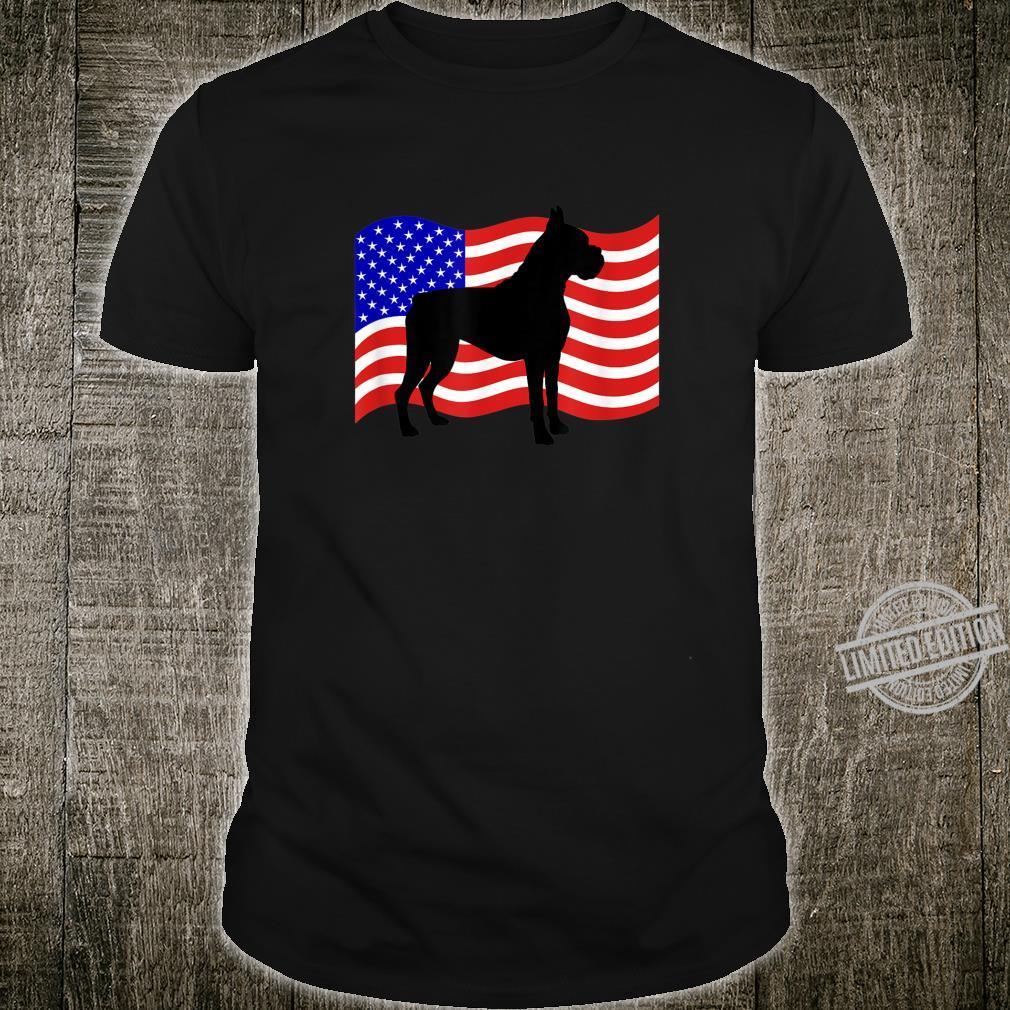 MidIowa Boxer Rescue Patriotic USA Boxer Shirt