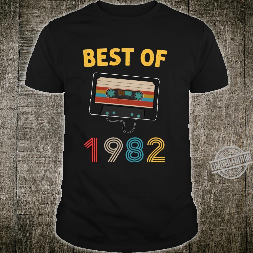 Mixtape Vintage Best Of 1982 Birthday 38 Years Old Shirt