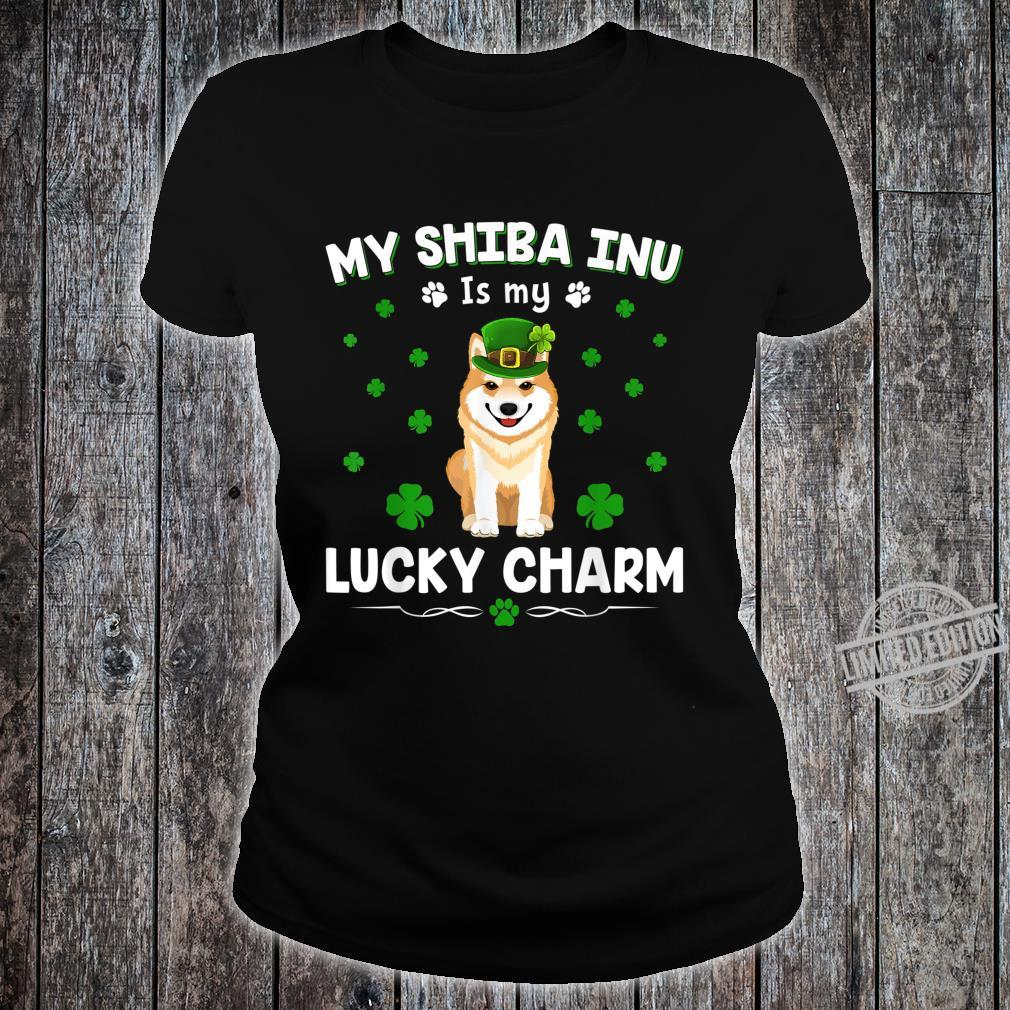 My Shiba Inu Is My Lucky Charm St Patricks Day Shirt ladies tee