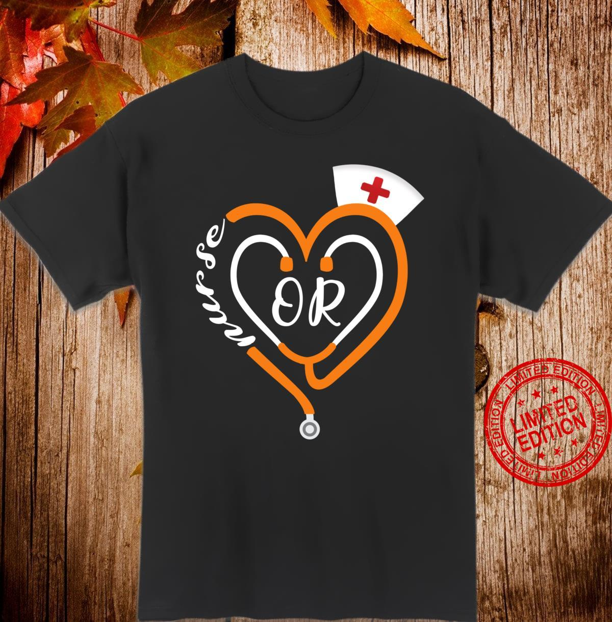 OR Nurse Halloween Stethoscope Heart RN Operating Room Shirt