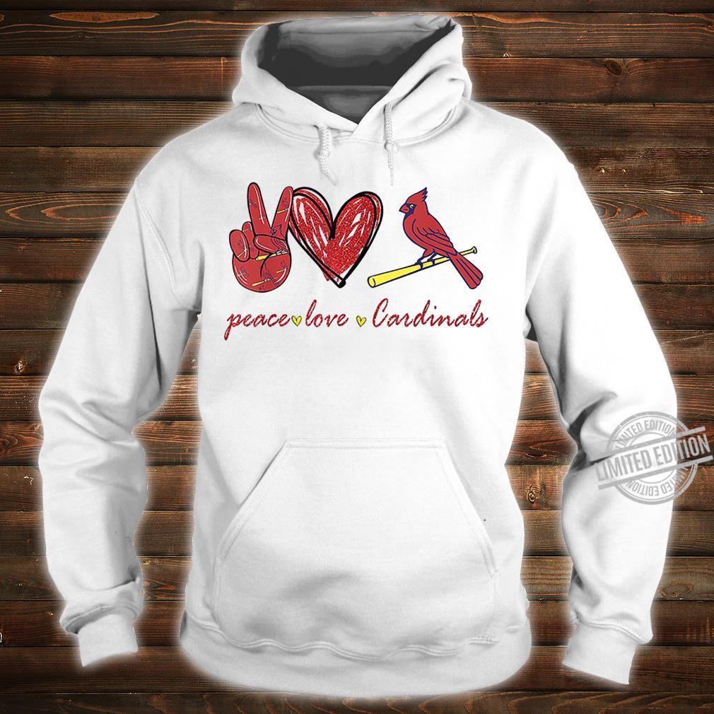 Peace Love Cardinal For Cardinal Shirt hoodie