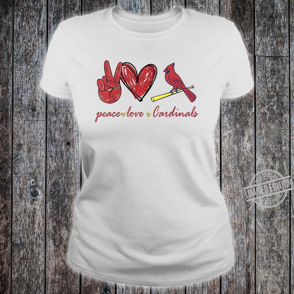 Peace Love Cardinal For Cardinal Shirt ladies tee