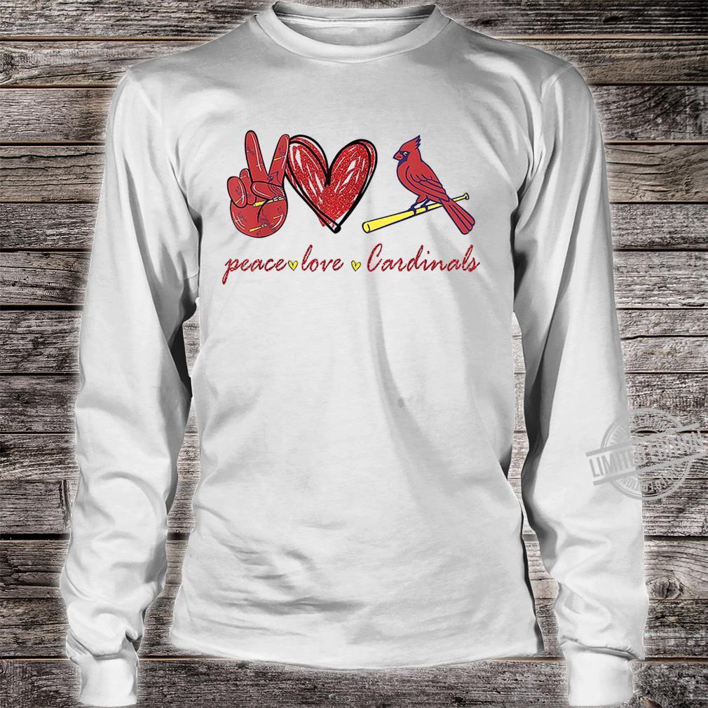 Peace Love Cardinal For Cardinal Shirt long sleeved