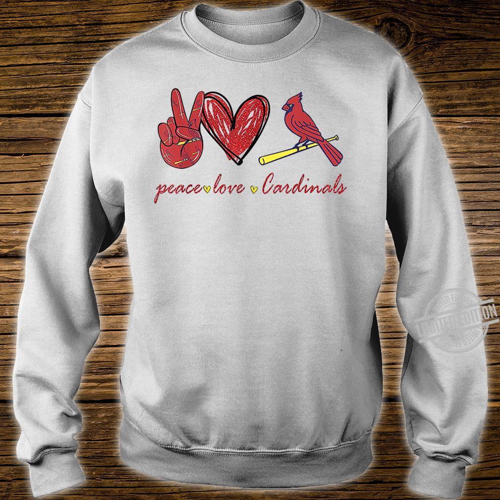 Peace Love Cardinal For Cardinal Shirt sweater