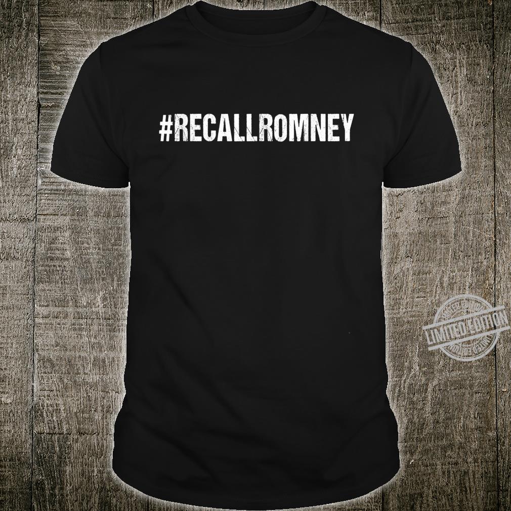 #RecallRomney Recall Romney Shirt