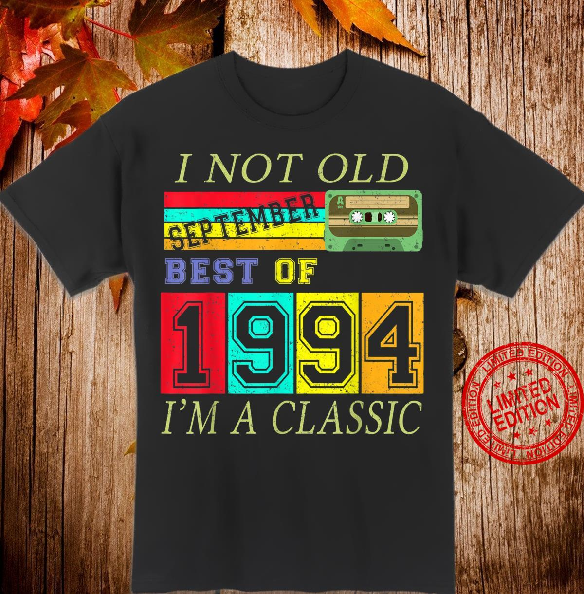 September 1994 26th Birthday Cassette Tape Vintage Shirt