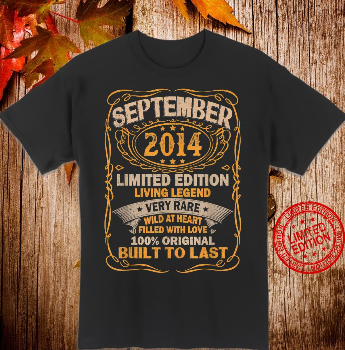 September 2014 Shirt 6 Years Old 6th Birthday Shirt