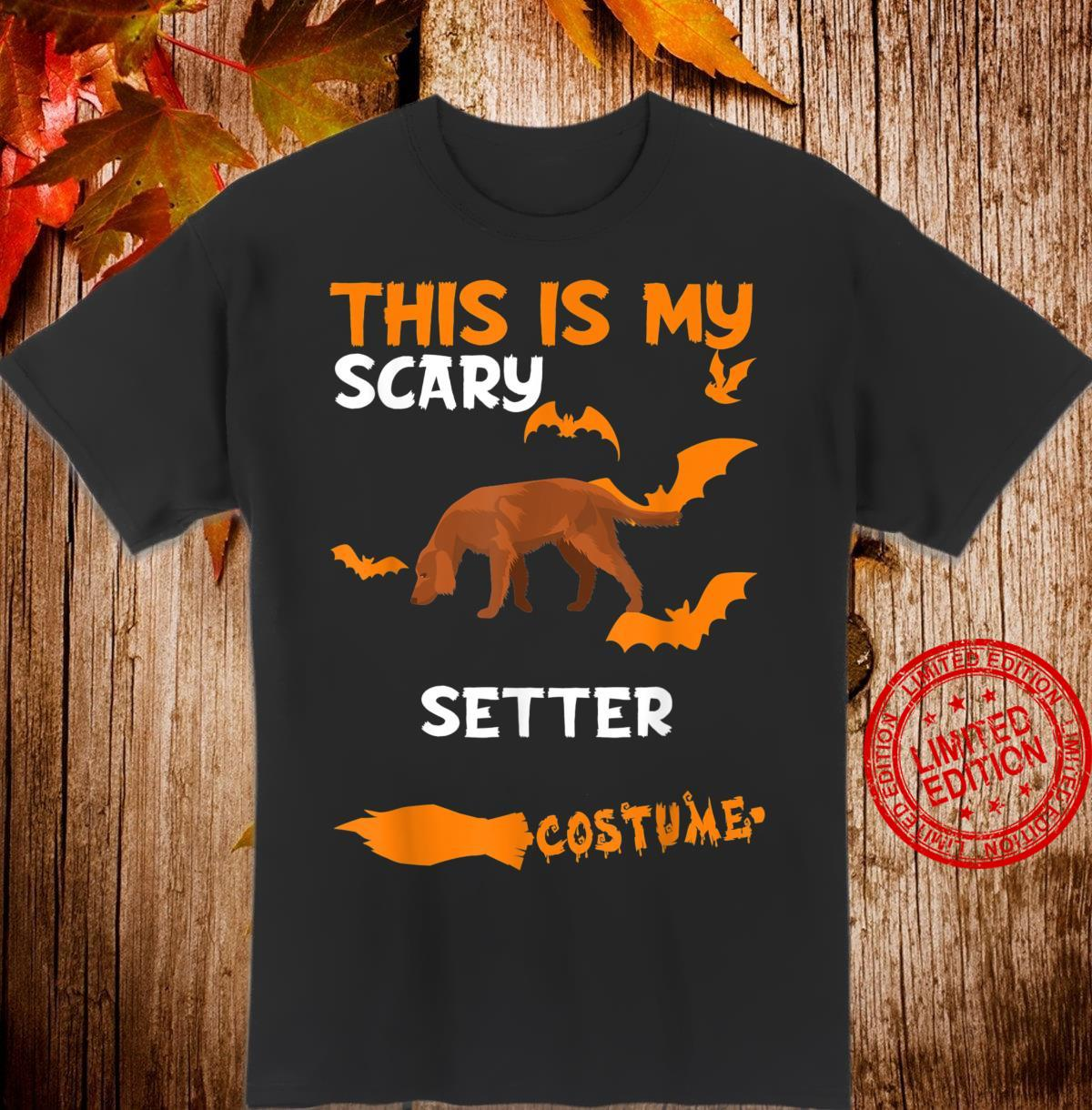 Setter Costume Halloween Lazy Scary Dog Shirt