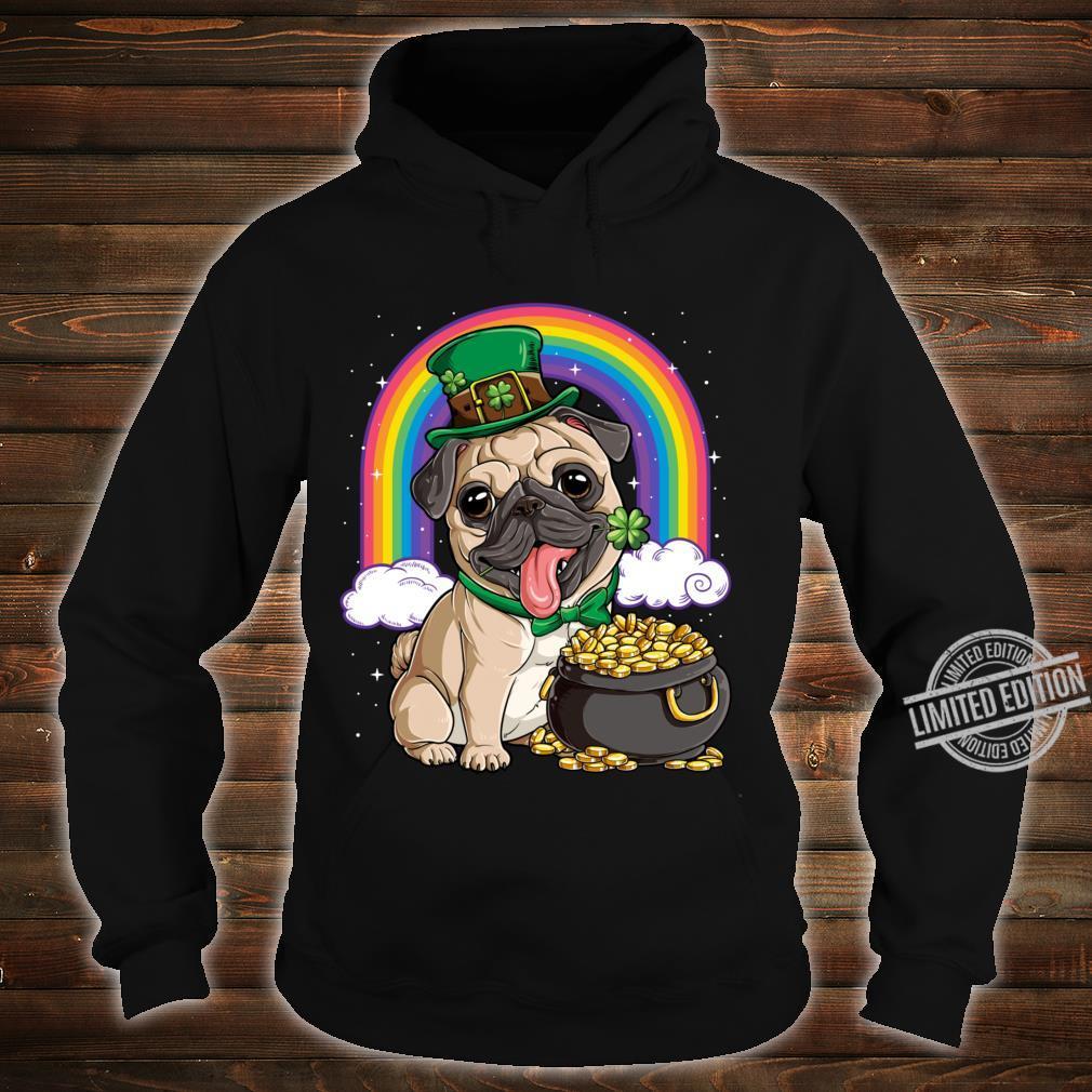 St Patricks Day Irish Pug Dog Boys Irish Flag Shirt hoodie