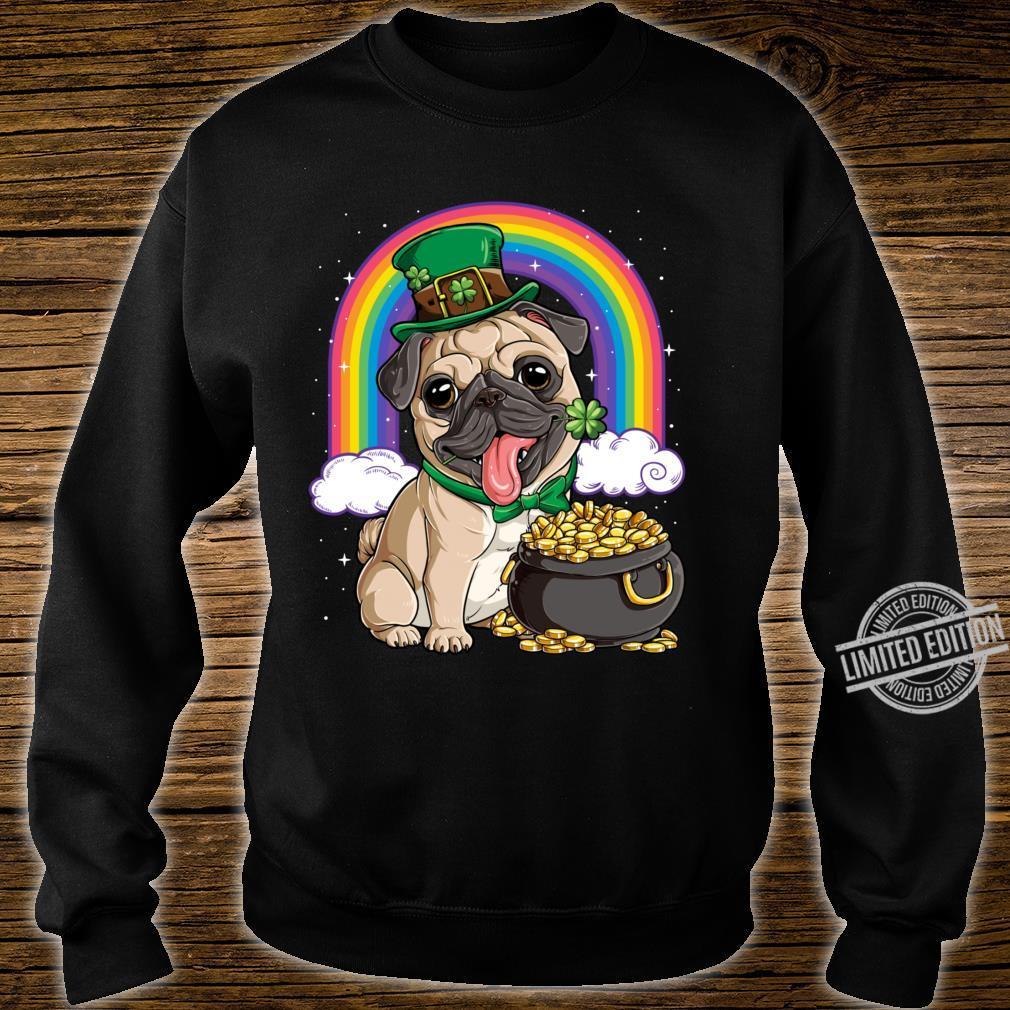 St Patricks Day Irish Pug Dog Boys Irish Flag Shirt sweater