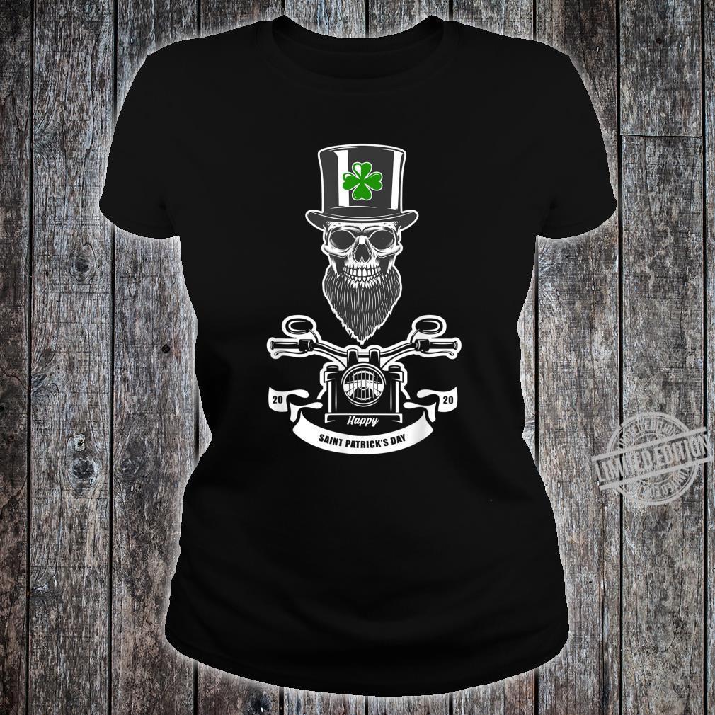 St Patricks Day Leprechaun Motorcycls Shirt ladies tee