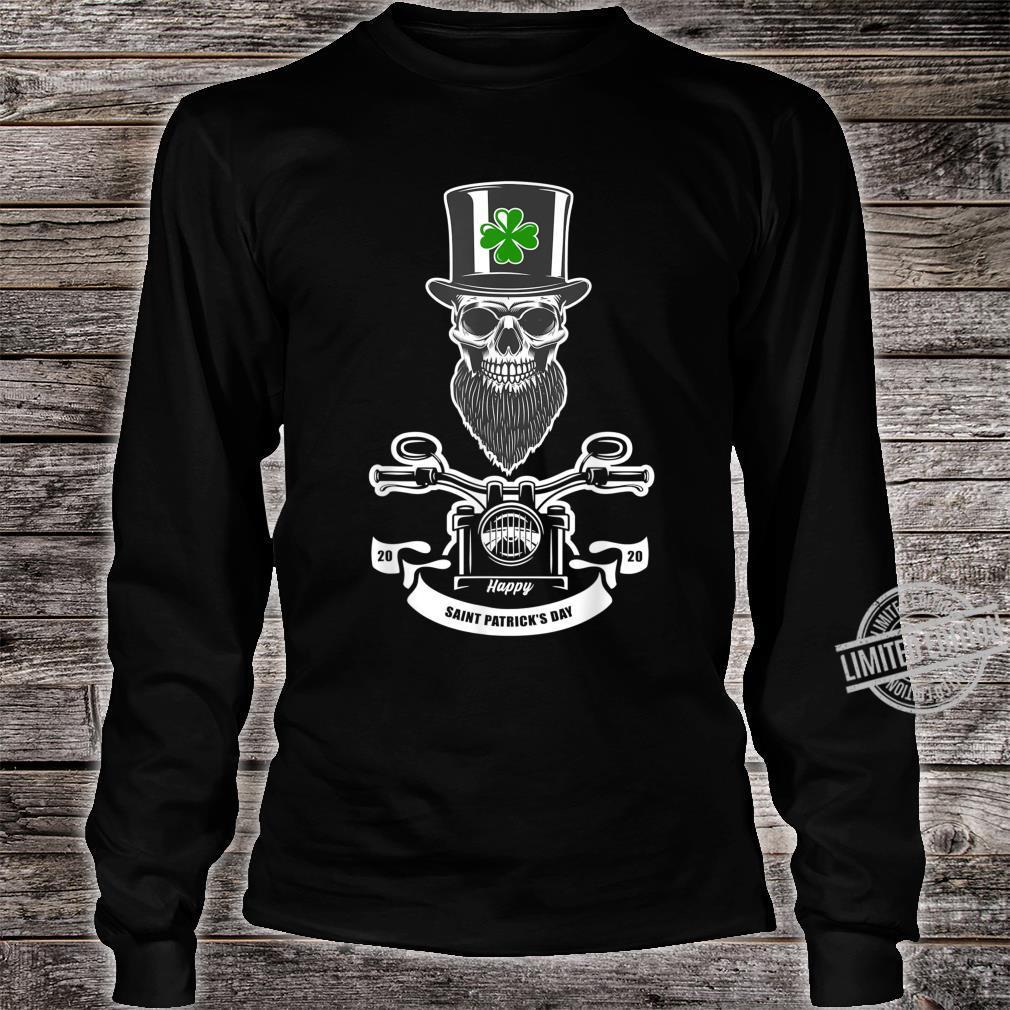 St Patricks Day Leprechaun Motorcycls Shirt long sleeved