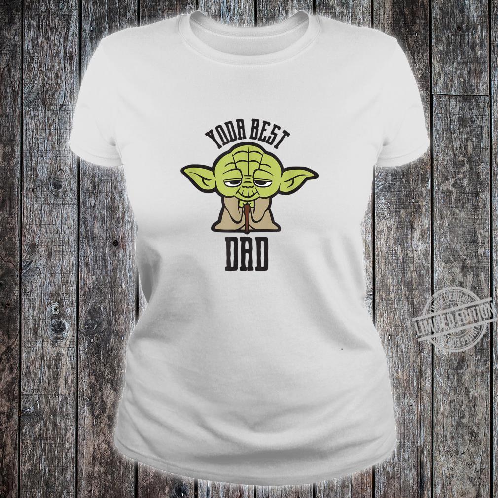 Star Wars Kawaii Yoda Best Dad Father's Day Shirt ladies tee