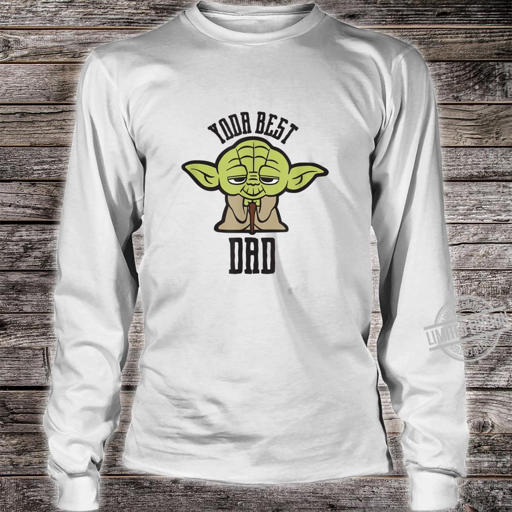 Star Wars Kawaii Yoda Best Dad Father's Day Shirt long sleeved