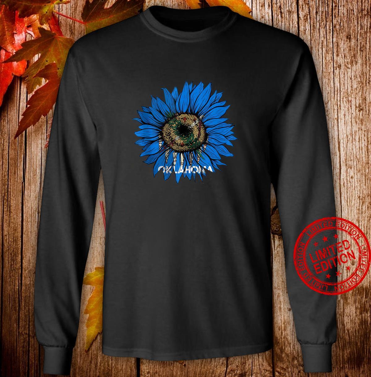 Sunflower Oklahoma flag Oklahoma flag Sunflower Shirt long sleeved