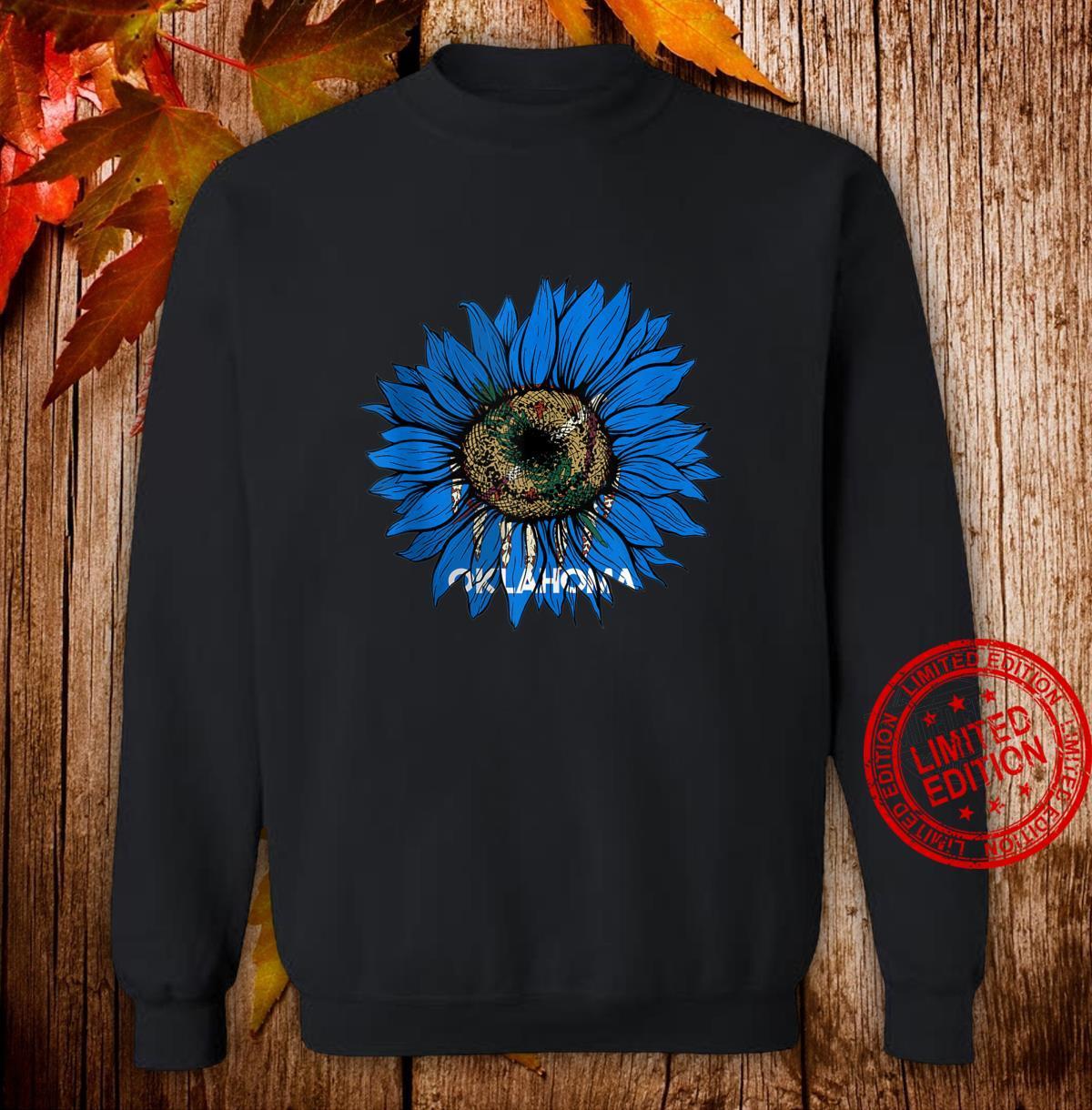 Sunflower Oklahoma flag Oklahoma flag Sunflower Shirt sweater