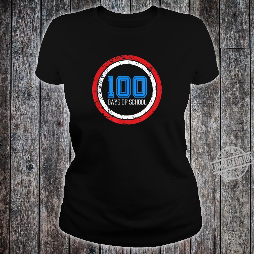 Superhero 100 Days of School Shirt ladies tee