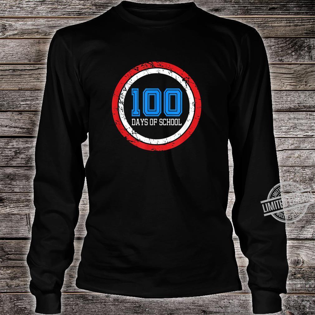 Superhero 100 Days of School Shirt long sleeved
