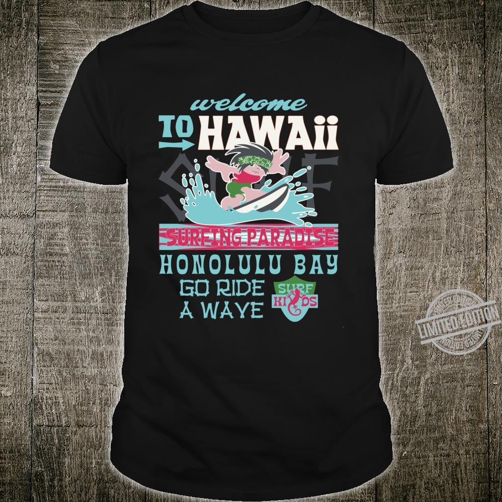 Surfing Hawaii Surf Party Summer Vacation Honolulu Bay Shirt