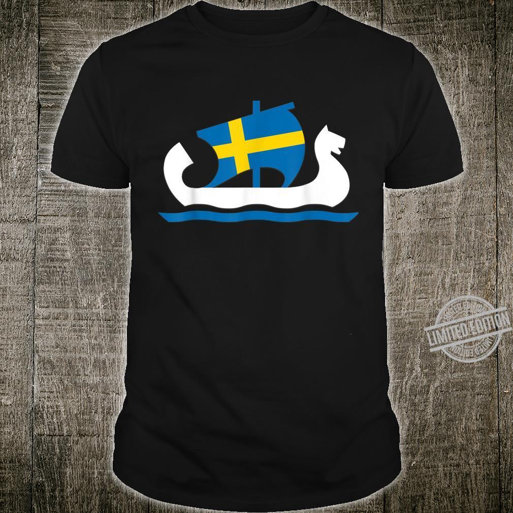 Sweden Viking Ship Swedish Flag Swede Norse Mythology Shirt