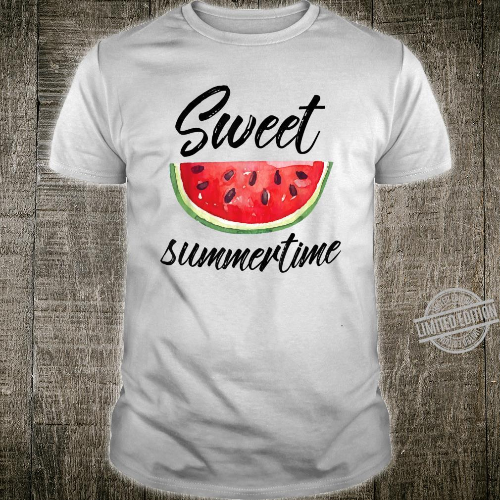 Sweet Summertime Mouth Watering Watermelon Quote Shirt