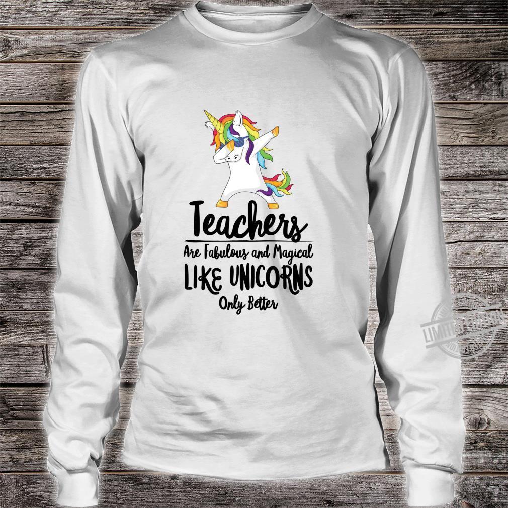 Teacher Unicorn School Therapist Counselor Teaching Student Shirt long sleeved