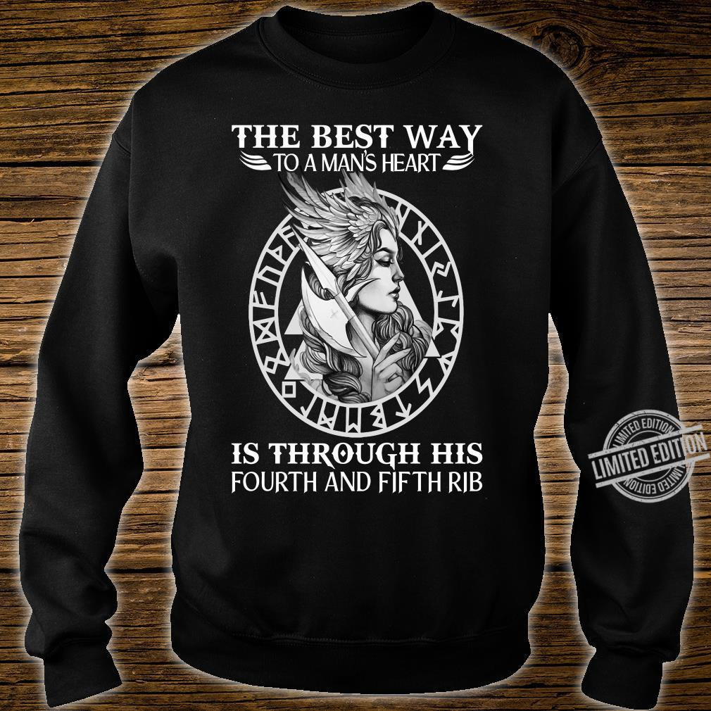 The best way to a man's heart is through his fourth and fifth rib shirt sweater