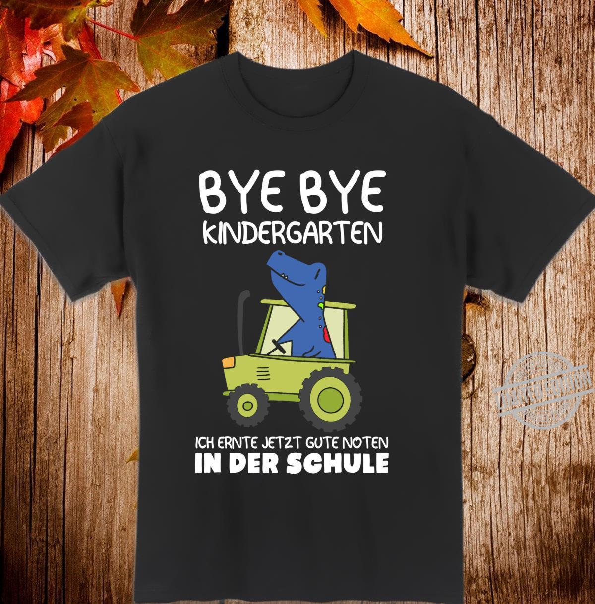 Traktor Dino Einschulung Jungen Schulkind Langarmshirt Shirt