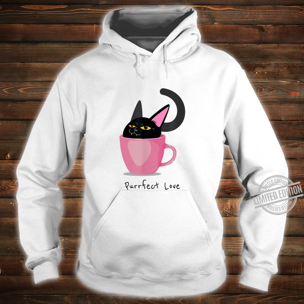 Valentine 'Purrfect Love' Black Cat CupO'Love Shirt hoodie