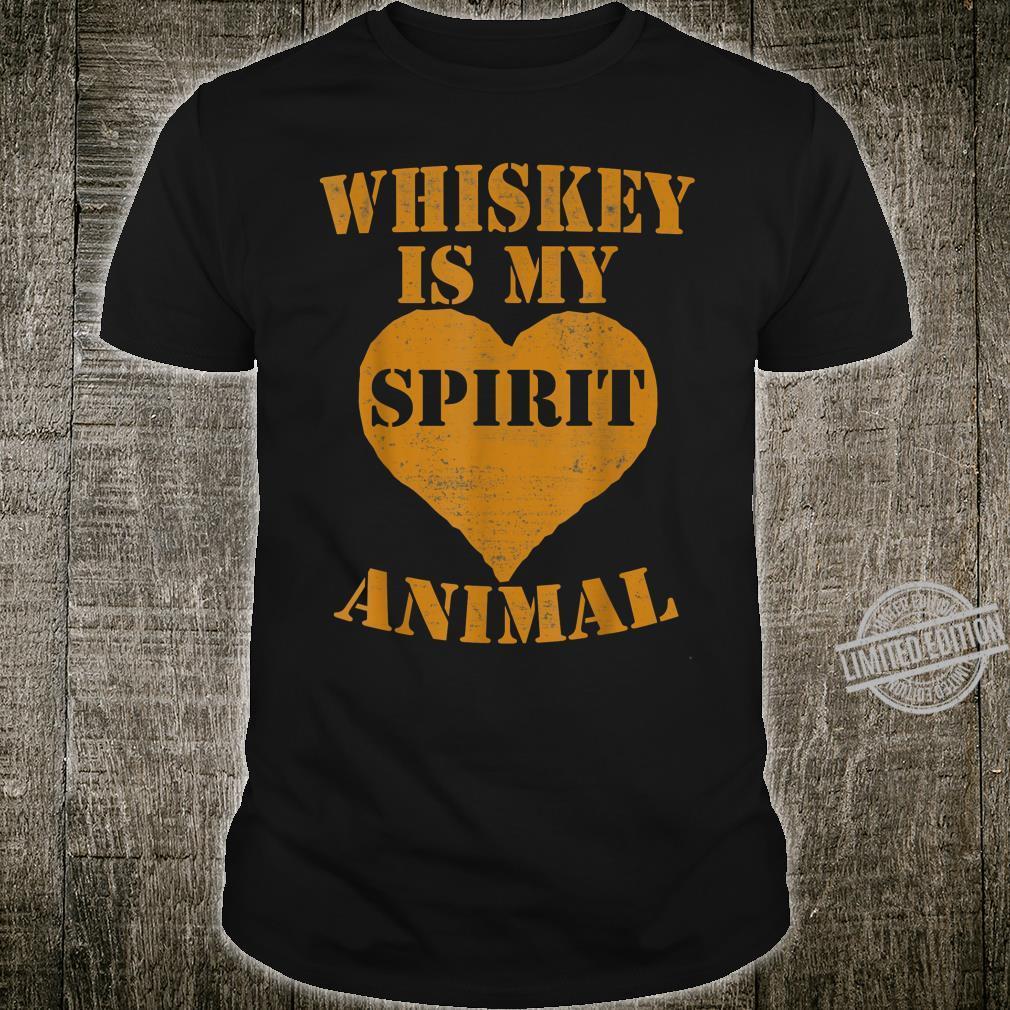 Whiskey Is My Spirit Animal Drinking Shirt