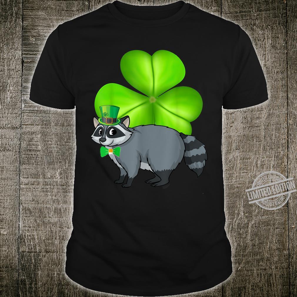 Wild Raccoon Shamrocks Shirt St Patricks Day Animal Shirt