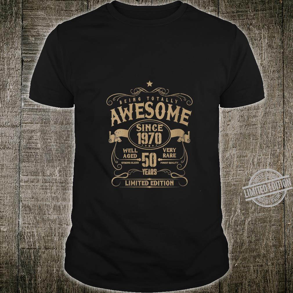 Womens 50th Birthday Vintage 50 Years Awesome Since 1970 Shirt