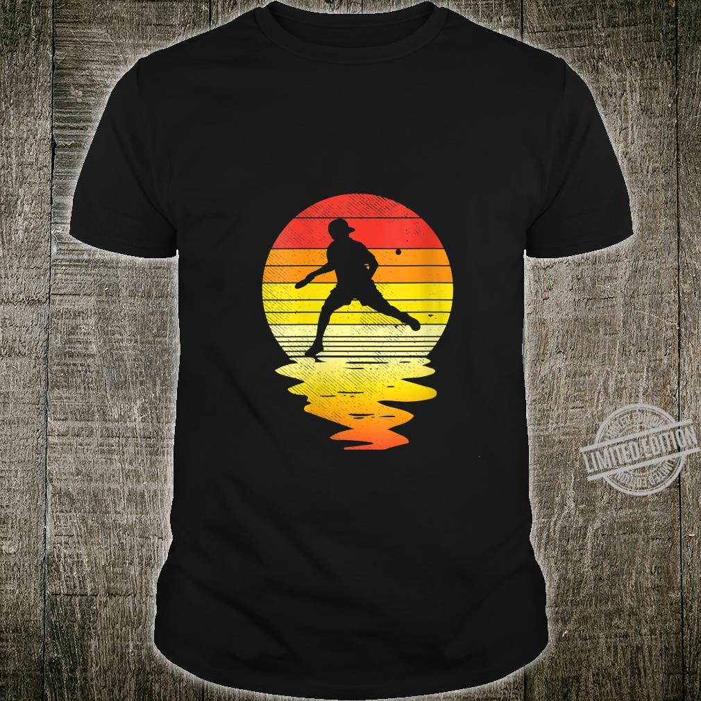 Womens Table Tennis Sunset Retro Ping Pongs Players Shirt